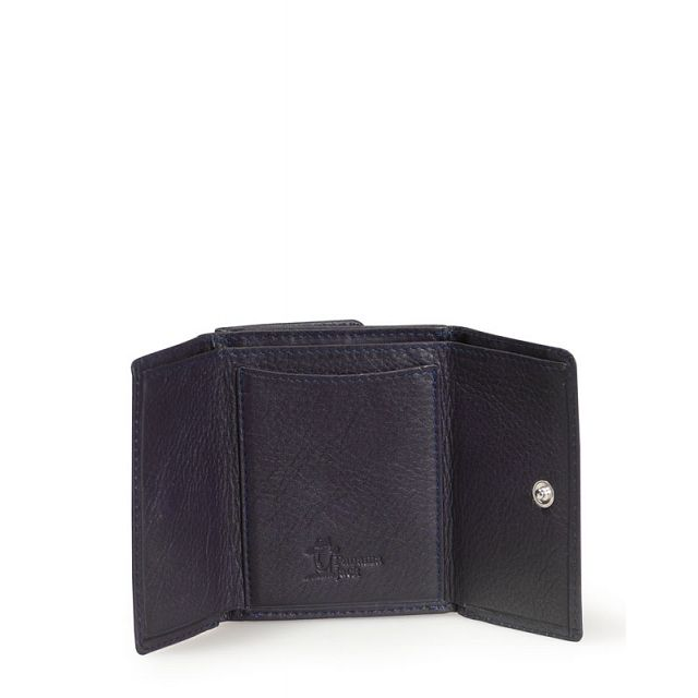 Mini leather wallet in violet