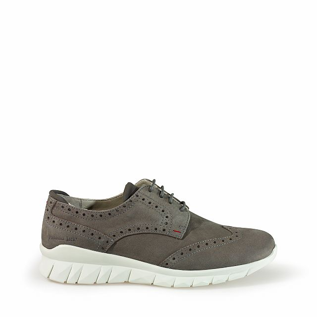 Leather shoes in grey with leather inner lining
