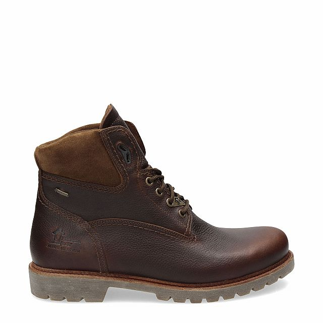 Leather ankle boot in chestnut with Gore-Tex inner lining