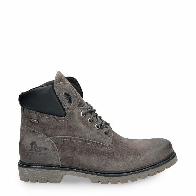 Leather ankle boot in grey with Gore-Tex inner lining