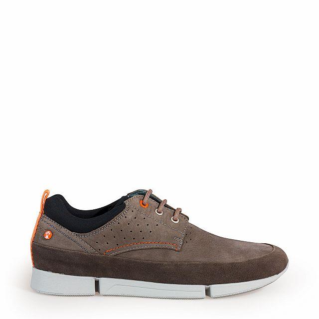 Zapato de piel gris con forro de lycra
