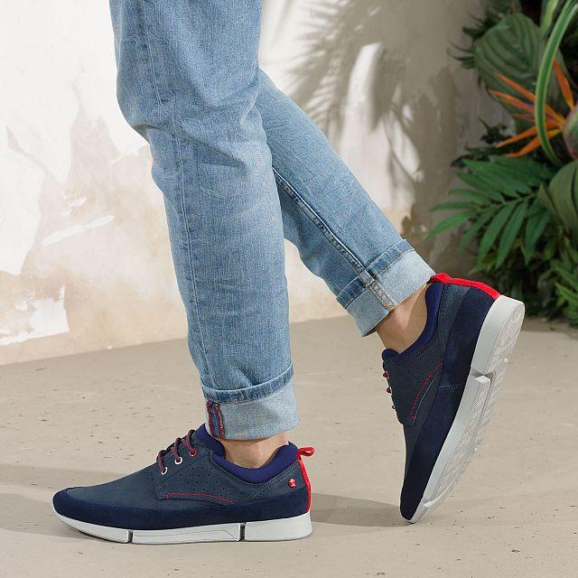 Panama Jack Athom Navy blue Nobuck Man Footwear