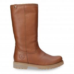 Women's leather high boots with warm lining