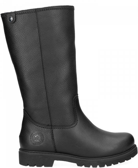 763006a3a5f4a Black leather boot with a lining of Sheepskin. Bambina Igloo