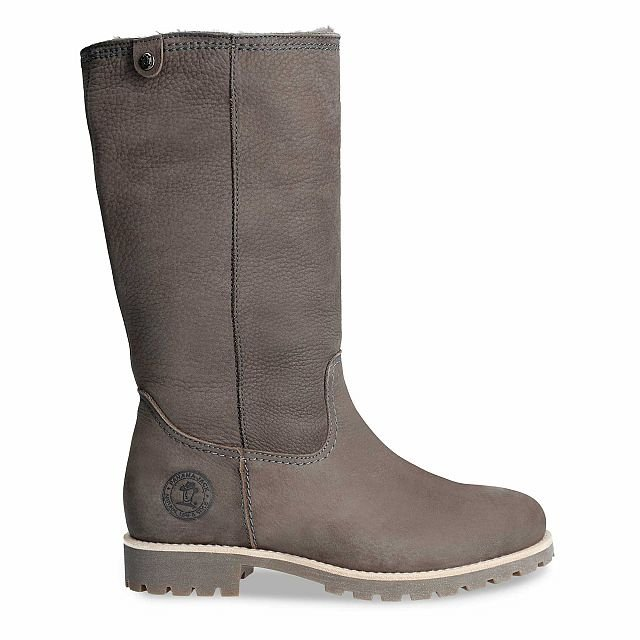 Panama Jack Bambina Igloo Grey Nobuck Woman Footwear