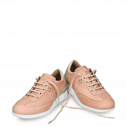 Leather trainer in salmon with leather inner lining