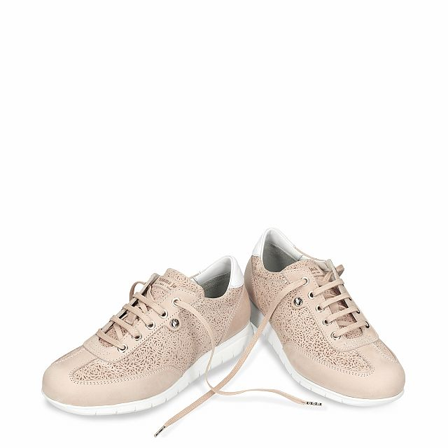 Banus Roses Salmon Napa Grass Woman Footwear