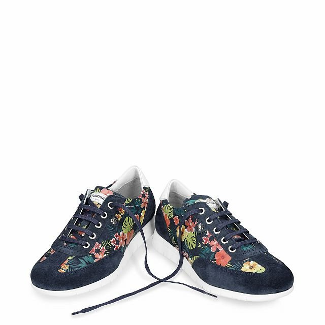 Banus Tropical Navy blue Velour Woman Footwear