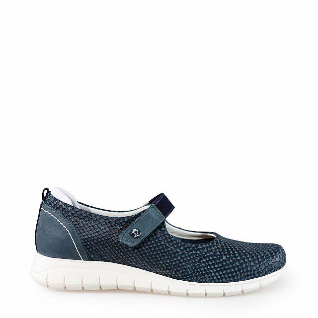 Zapato de piel marino con forro de piel