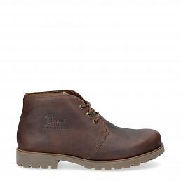 Ankle chukka boots in bark rugged with leather lining
