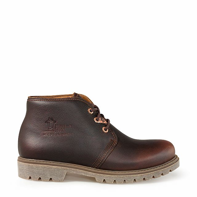 Leather ankle boots in chestnut colour with leather inner lining