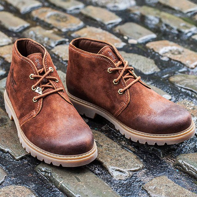 Bota Panama Bark Velour Grass Man