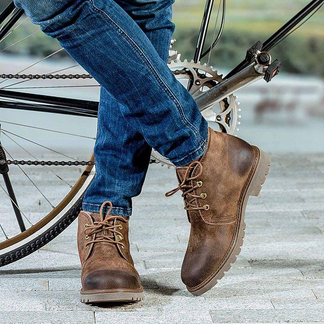 Bota Panama Taupe Velour Grass Man Footwear