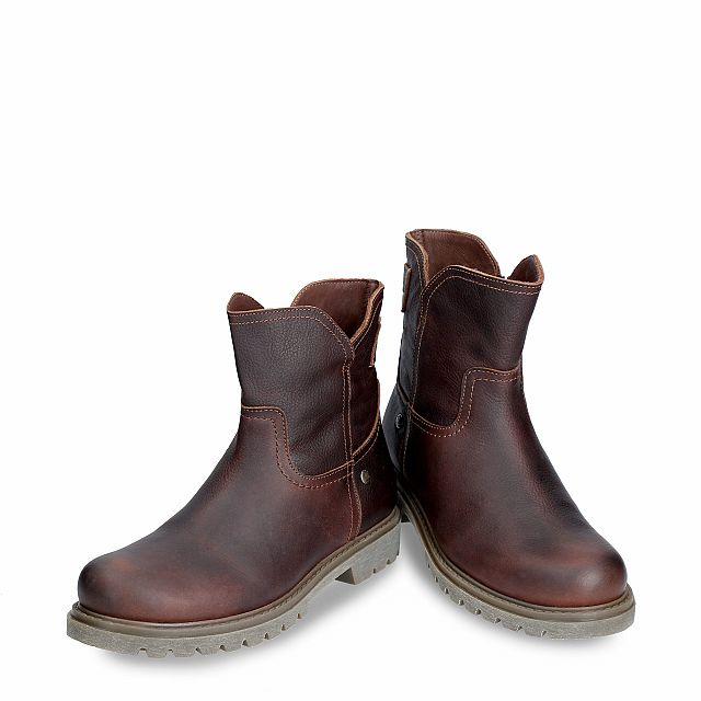 Leather boot in Chestnutbrown with a leather lining