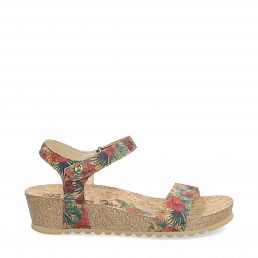 Capri Cork Red Tejido Woman Footwear