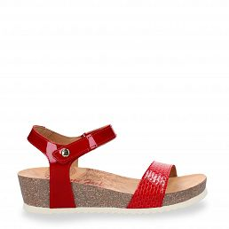 Capri Snake Charol Red Charol Woman Footwear