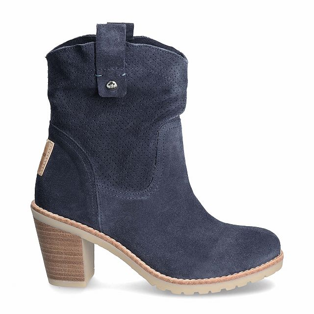 Carnaby Navy blue Velour Woman
