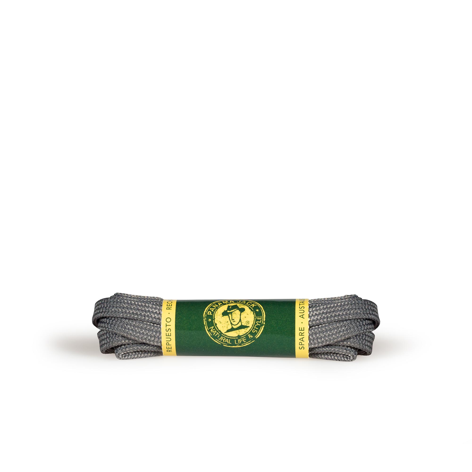 Shoelaces 125 Cm in grey Grey Poliester