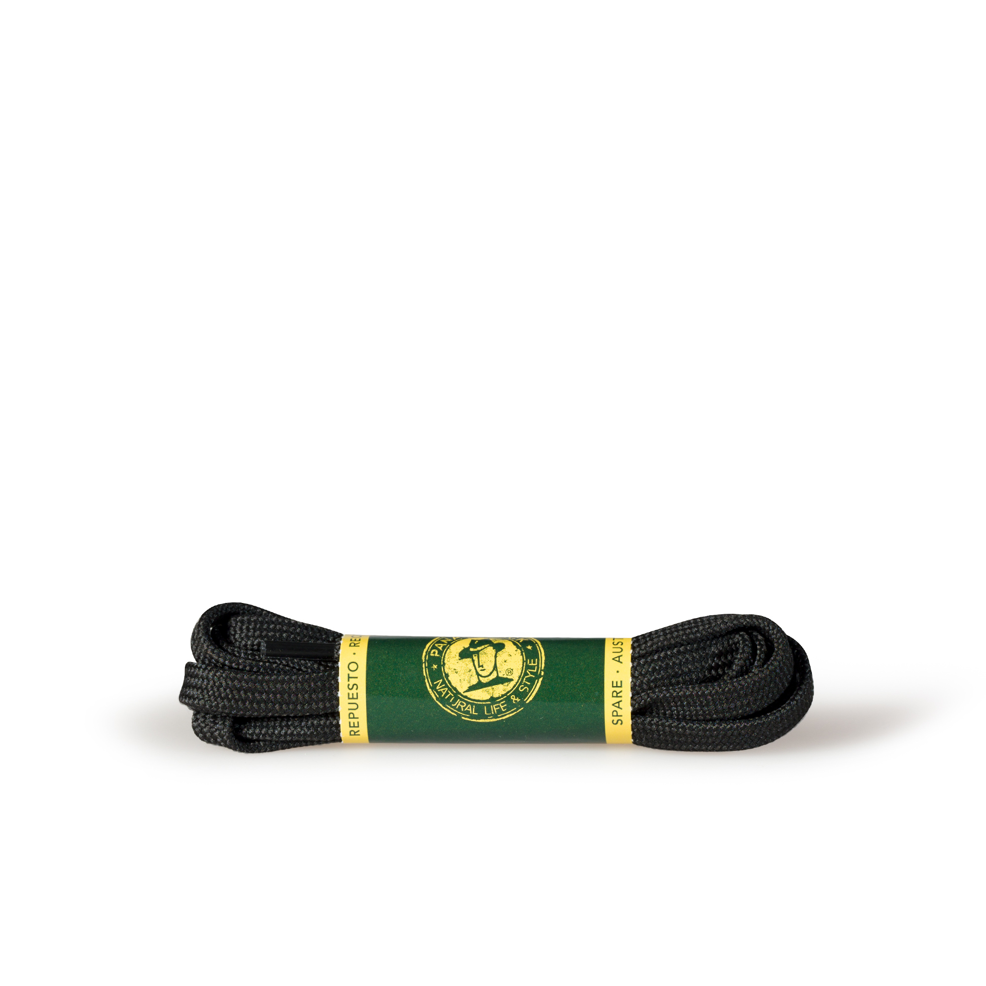 Shoelaces 125 Cm in black Black Poliester