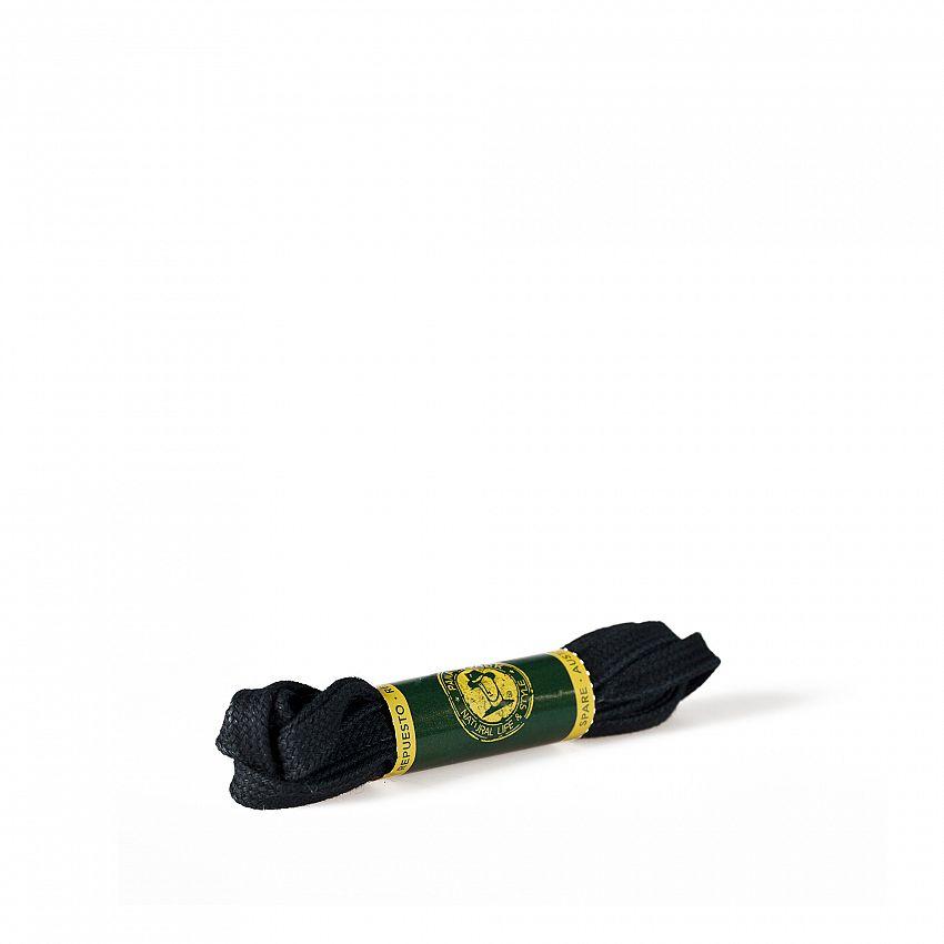 Shoelaces 135 Cm in black Black Algodon