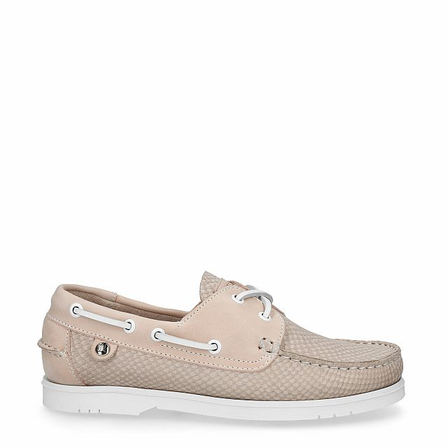 Taupe leather dock shoes