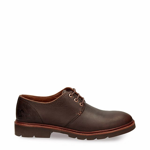 Leather shoe in brown with leather inner lining