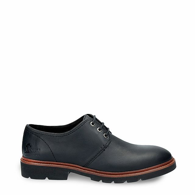 Leather shoe in black with leather inner lining