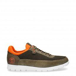 Davor Khaki Velour Man Footwear