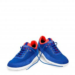 Leather shoe in blue with Lycra inner lining