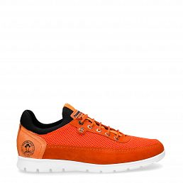 Davor Orange Velour Man Footwear