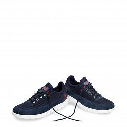 Davor Navy blue Velour
