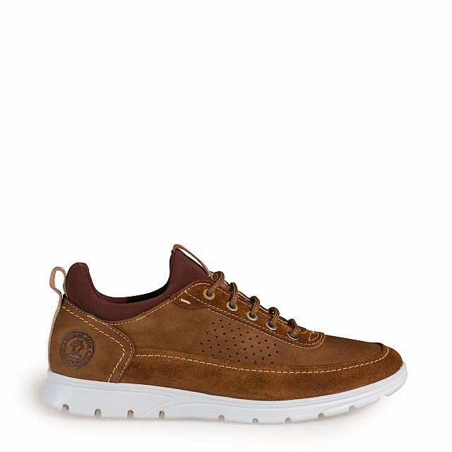 Leather shoe in tan with Lycra inner lining