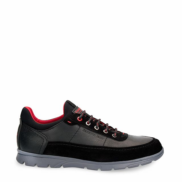 Leather shoe in black with Lycra inner lining