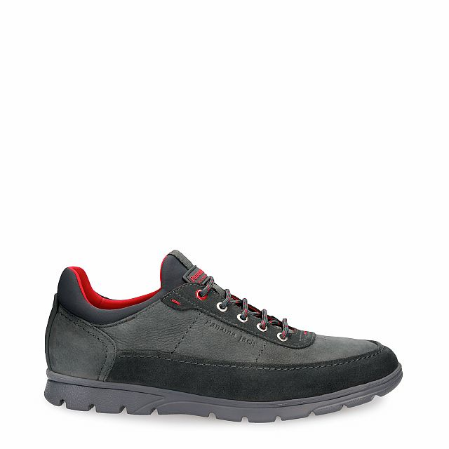 Leather shoe in grey with Lycra inner lining