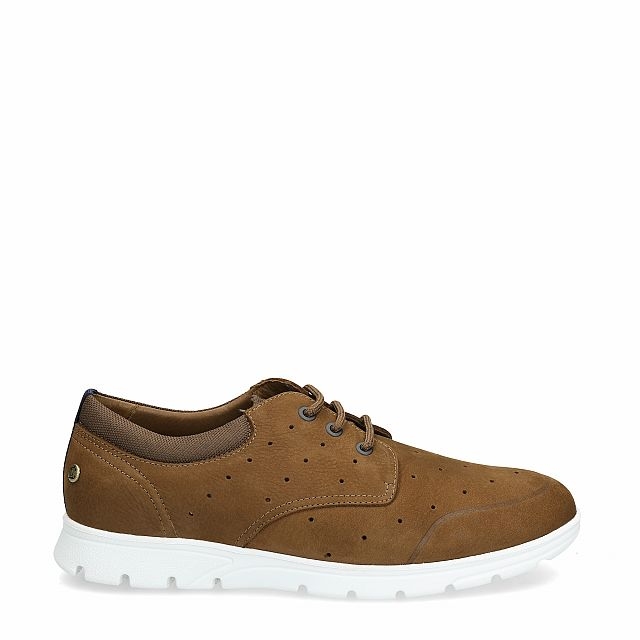 Leather shoe in tan with leather inner lining