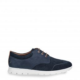 Detroit Navy blue Nobuck Man Footwear