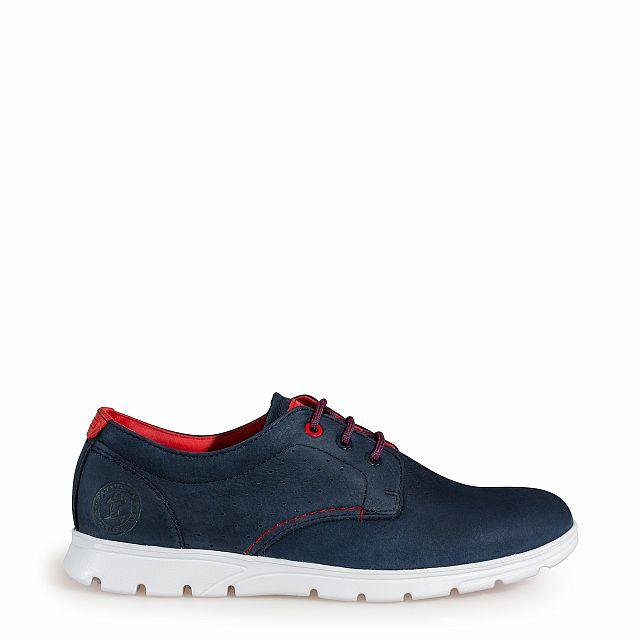 Leren schoen, marineblauw