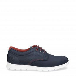 Domani Navy blue Nobuck Man