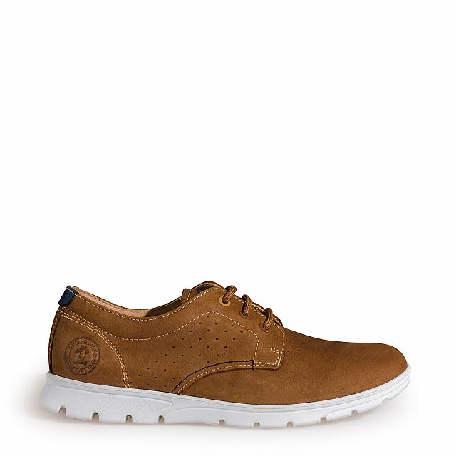 Leather shoe in tan