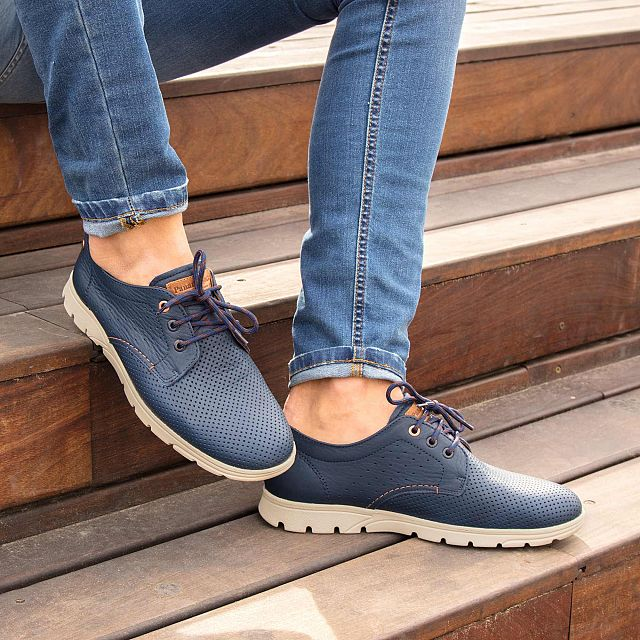 Domani Navy blue Napa Man Footwear