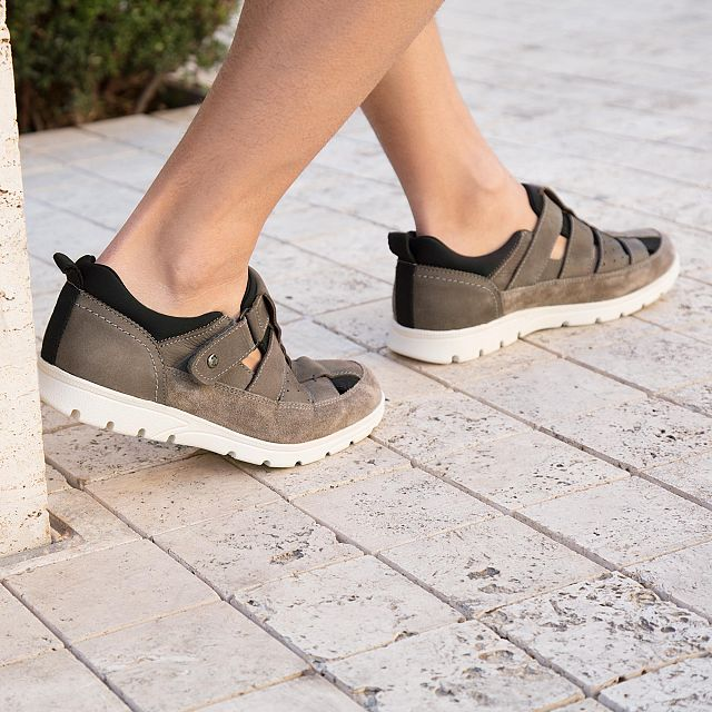 Panama Jack Donovan Grey Nobuck Man Footwear