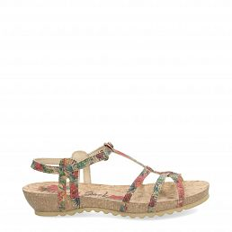 Dori Cork Red Tejido Woman Footwear