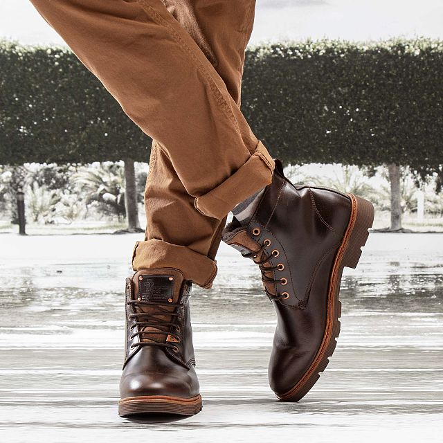Dover Igloo Brown Pull-Up Man Footwear