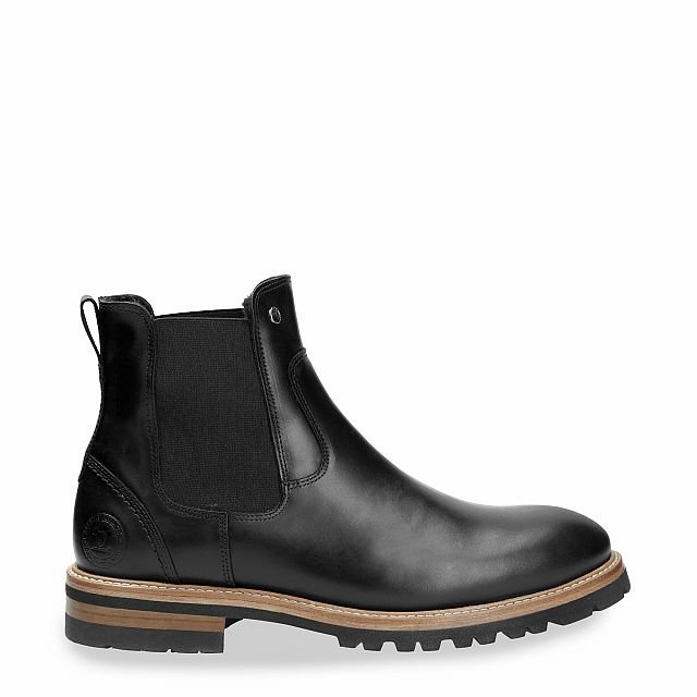 Enzo Igloo Black Pull-Up Man Footwear