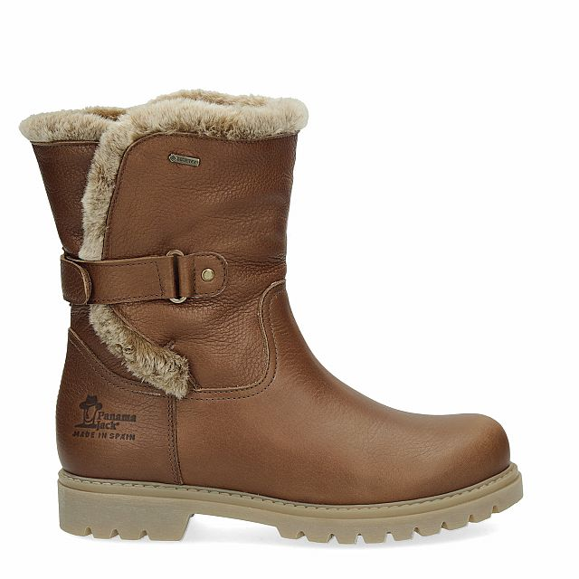 Leather boot in tan with Gore-Tex inner lining