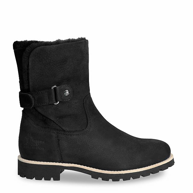 Felia Igloo Black Nobuck Woman
