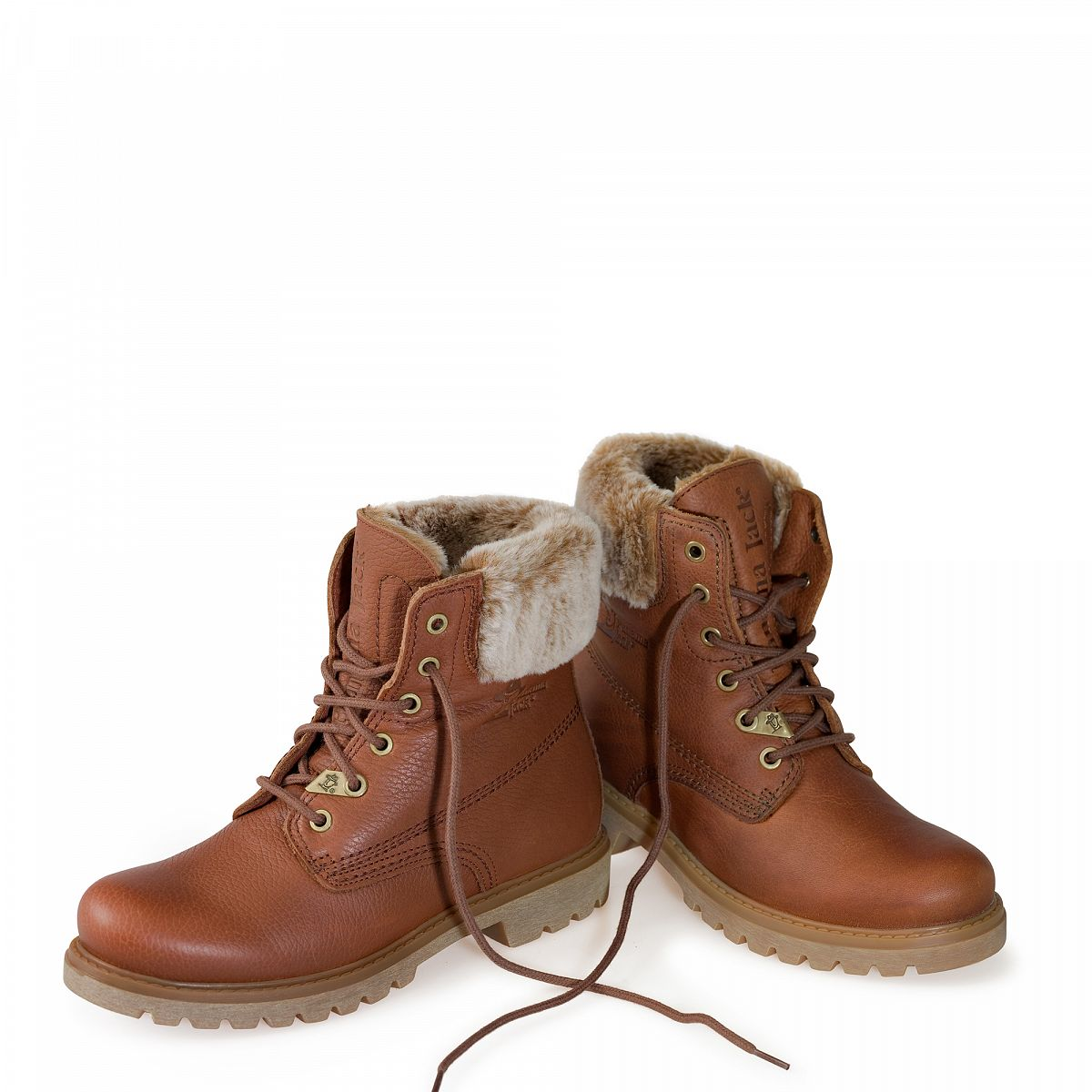 Leather boots in bark with leather inner lining 34a8300632b