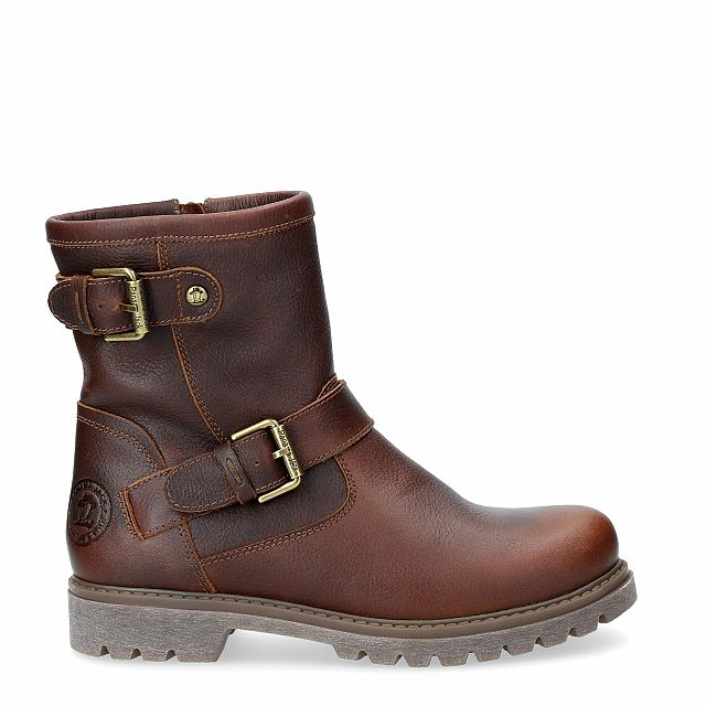 Panama Jack Felina Igloo Chestnut Napa Grass Woman Footwear