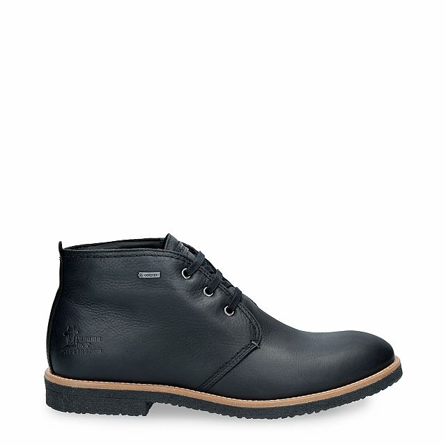 Leather ankle boots in black with Gore-Tex inner lining