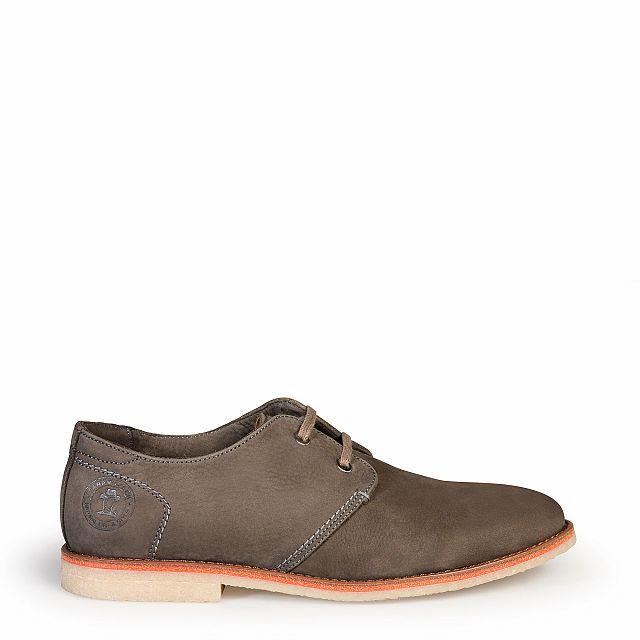 Zapato de piel gris con forro de piel